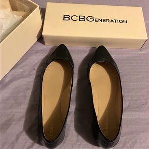 BCBG Black Flats Size 8